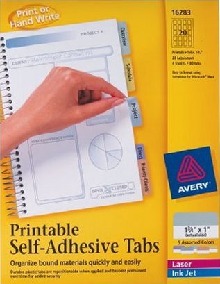 Review - Avery Printable Tabs